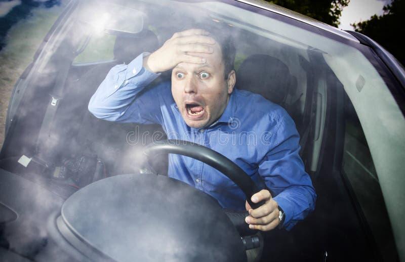 Horreur de conducteur photographie stock