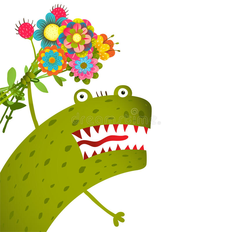 Horrible and Cute Funny Monster with Bunch of vector illustration