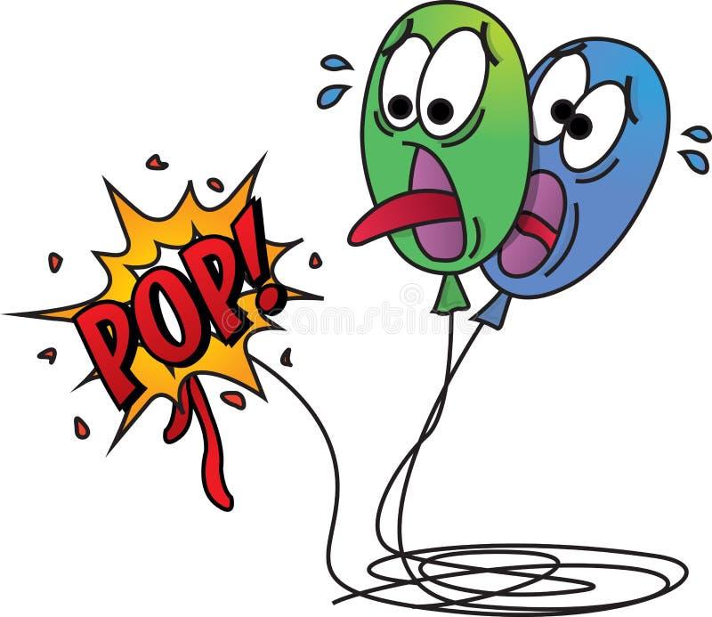 Horrified Balloon Pop Art royalty free stock photo