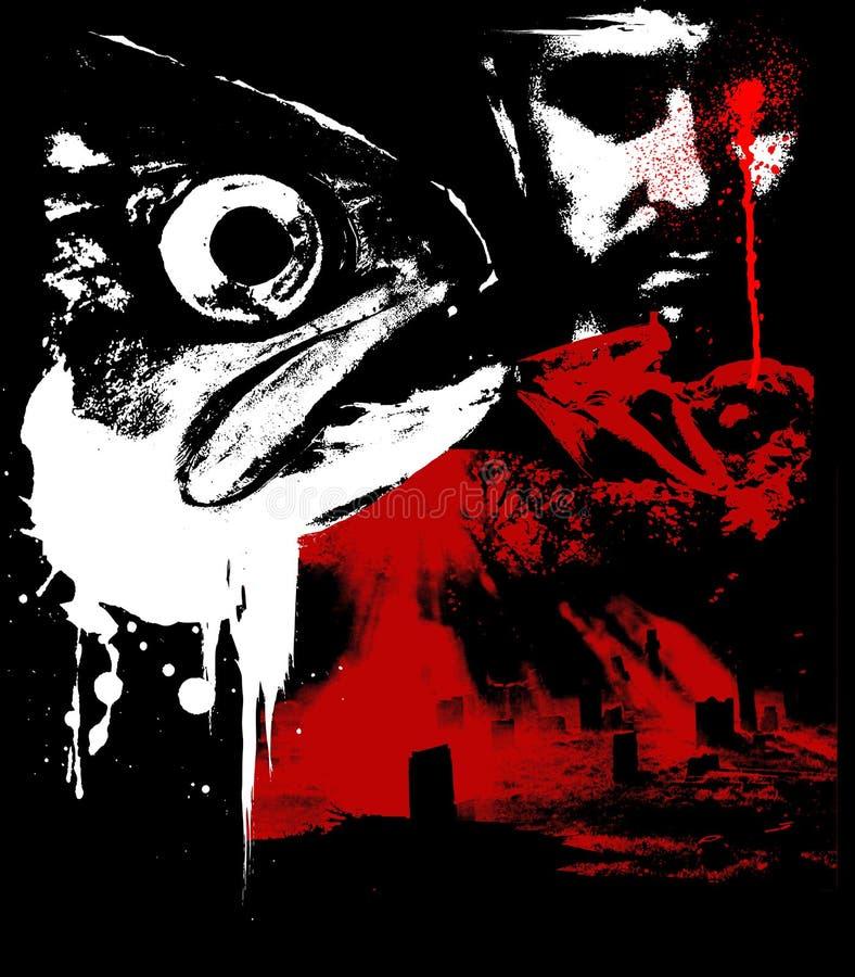 Horror 02 stock de ilustración