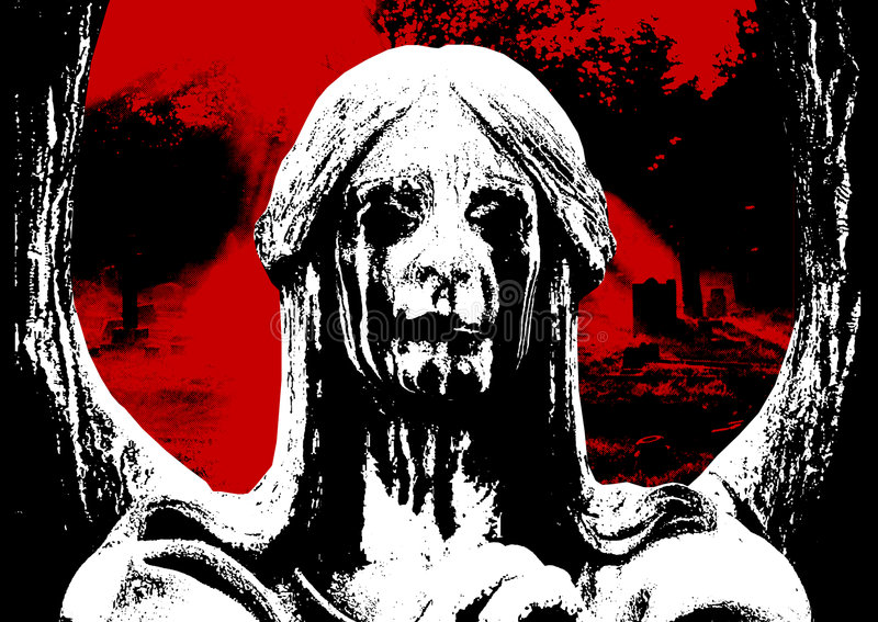 Horror 03. Night horror halloween blood splatter cemetery graveyard