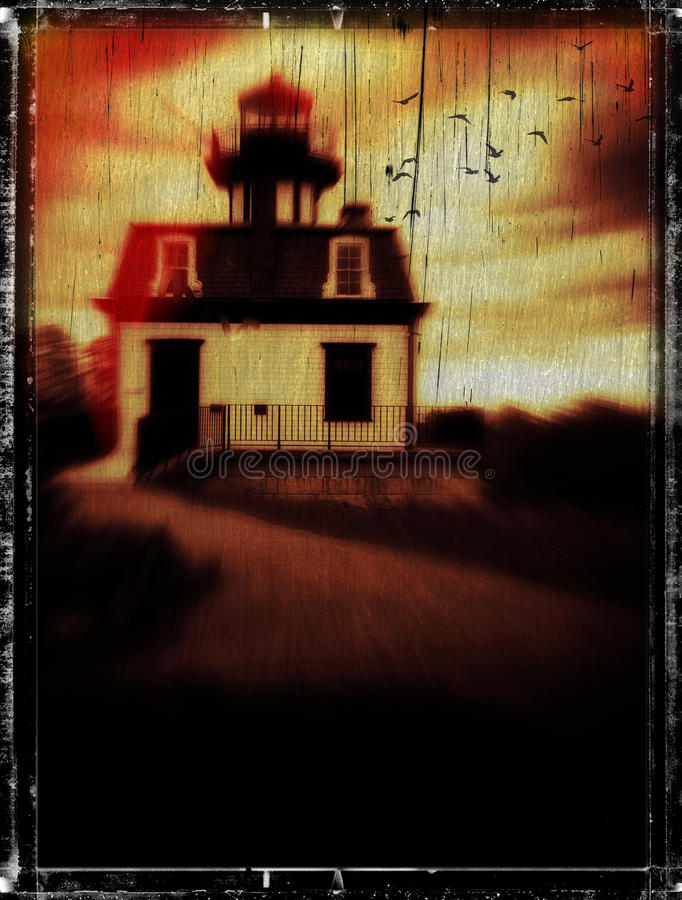 Download Horror Book Cover Concept Haunted Lighthouse Stock Image - Image: 27536833