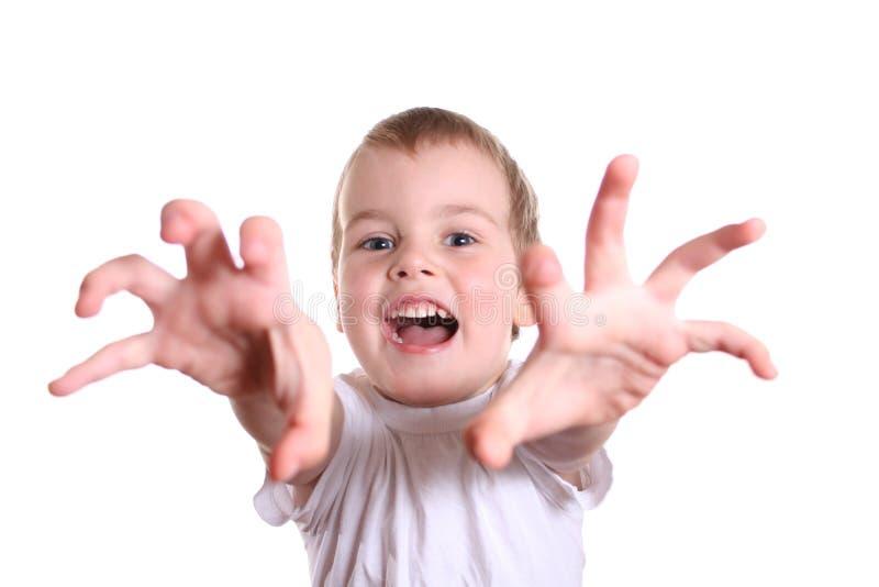 Horror Boy Stock Photo