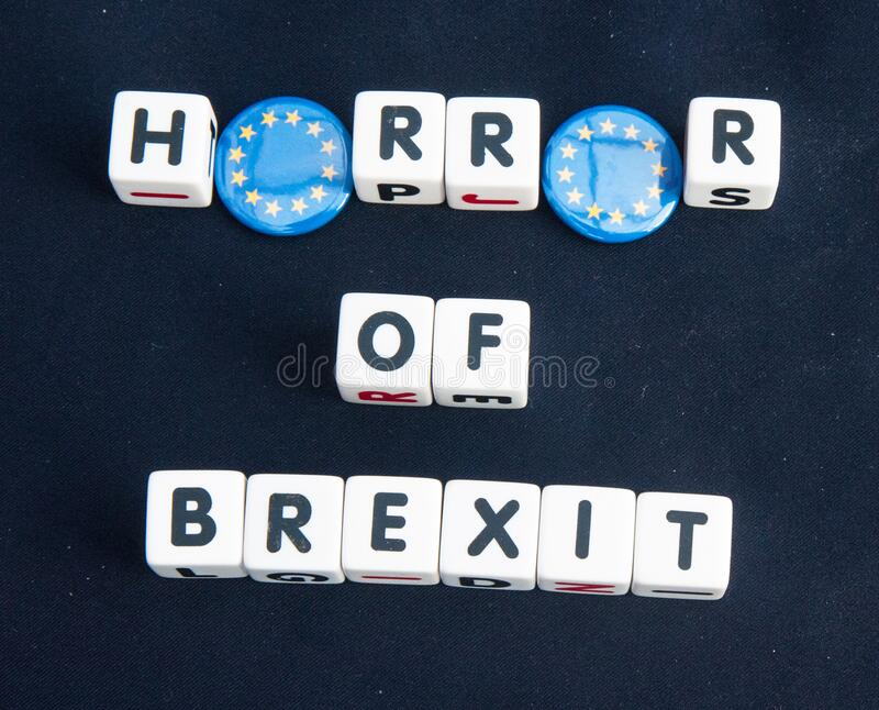 Horror of Brexit royalty free stock image