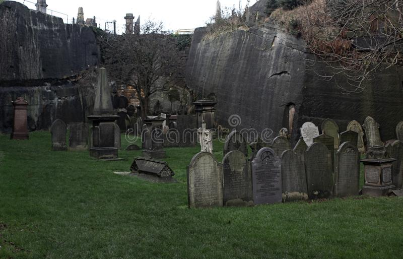 Horror cemetery Liverpool in United Kingdom. Great art photo stock photography