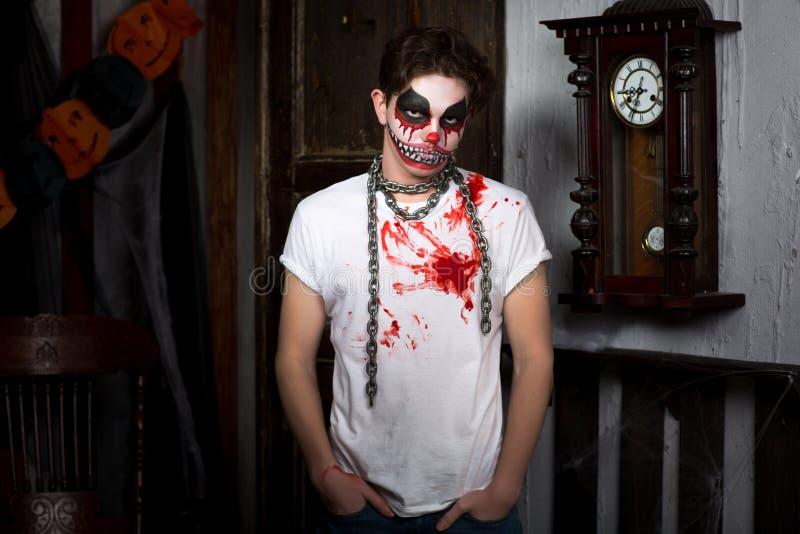 Horror clown makeup royalty free stock photos