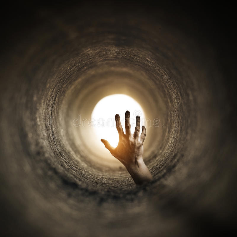 Horror del túnel fotografía de archivo libre de regalías
