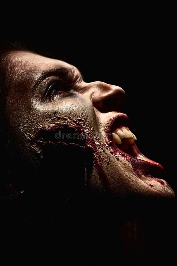 Horror do close up foto de stock