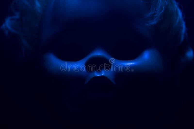 Horror doll face. royalty free stock photo
