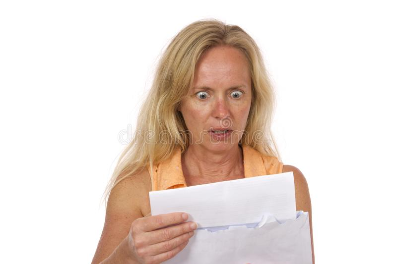 Horror Expensive Bill royalty free stock image