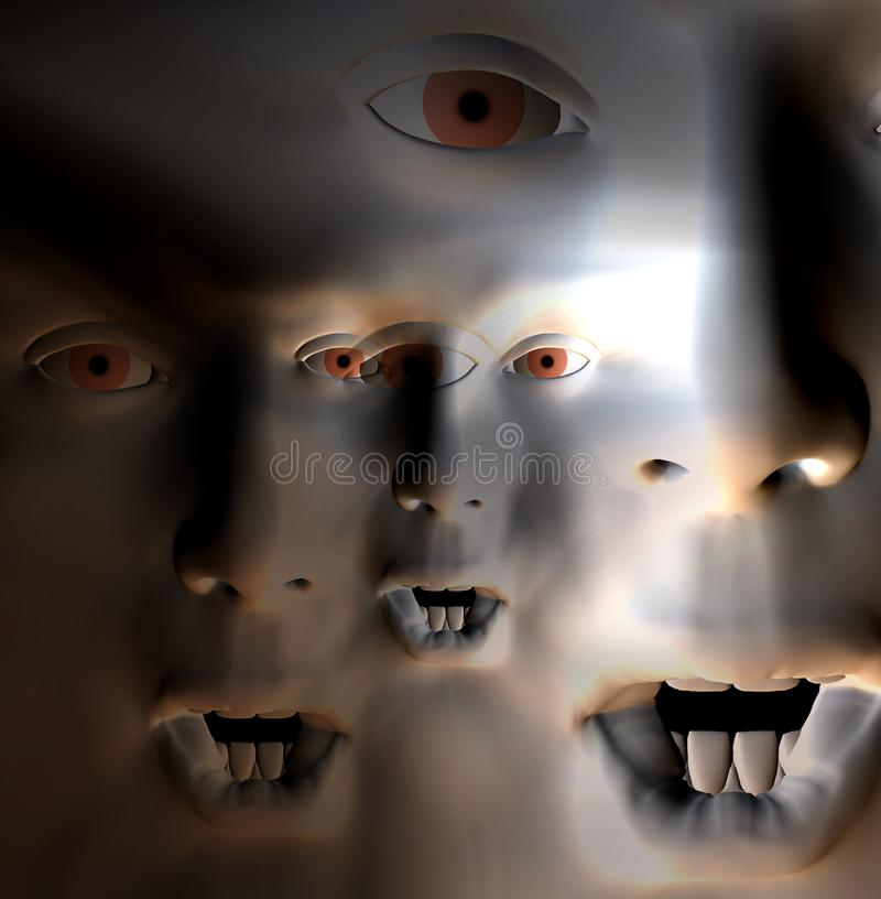 Download Horror Face 6 stock photo. Image of nightmare, distorted - 1535464