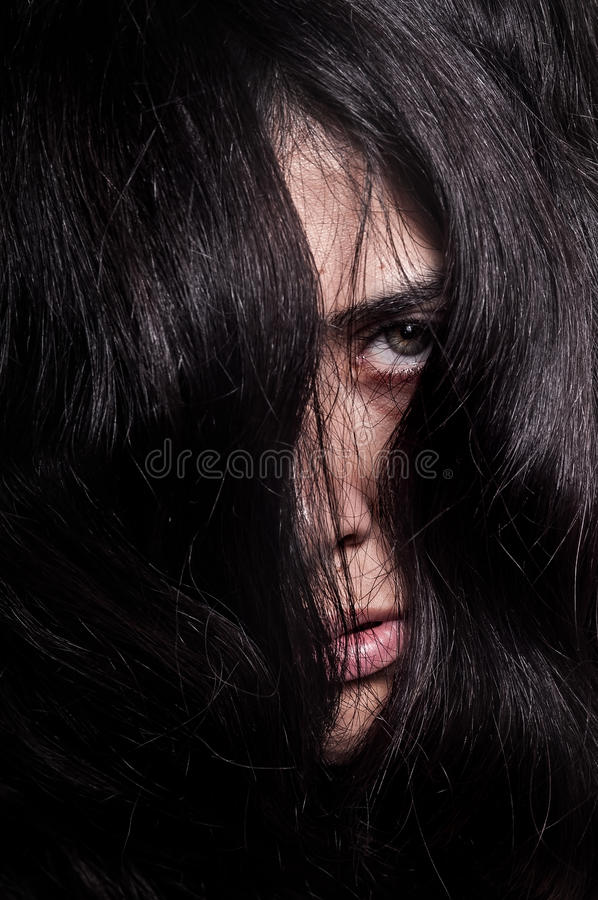Horror Face And Eye Royalty Free Stock Image