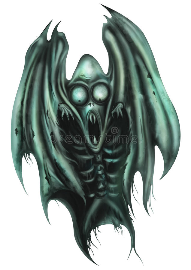 Horror Ghost Creature vector illustration