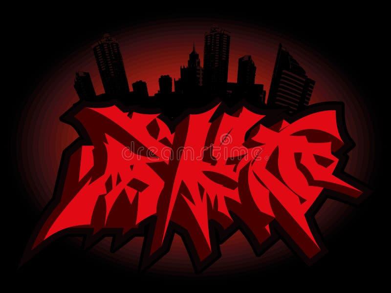 Horror graffiti to halloween stock images