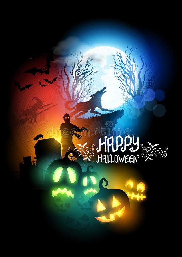 Zombie Haunted House Scary Halloween Zombies Stock Illustrations