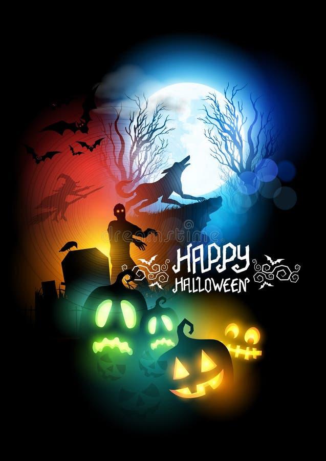 Horror-Halloween-Vektor-Illustration vektor abbildung