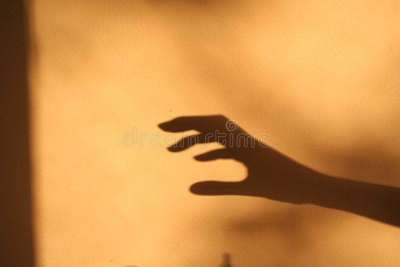 Horror hand shadow royalty free stock photo
