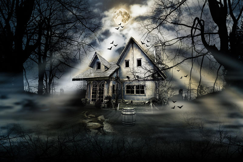 Horror House royalty free stock images