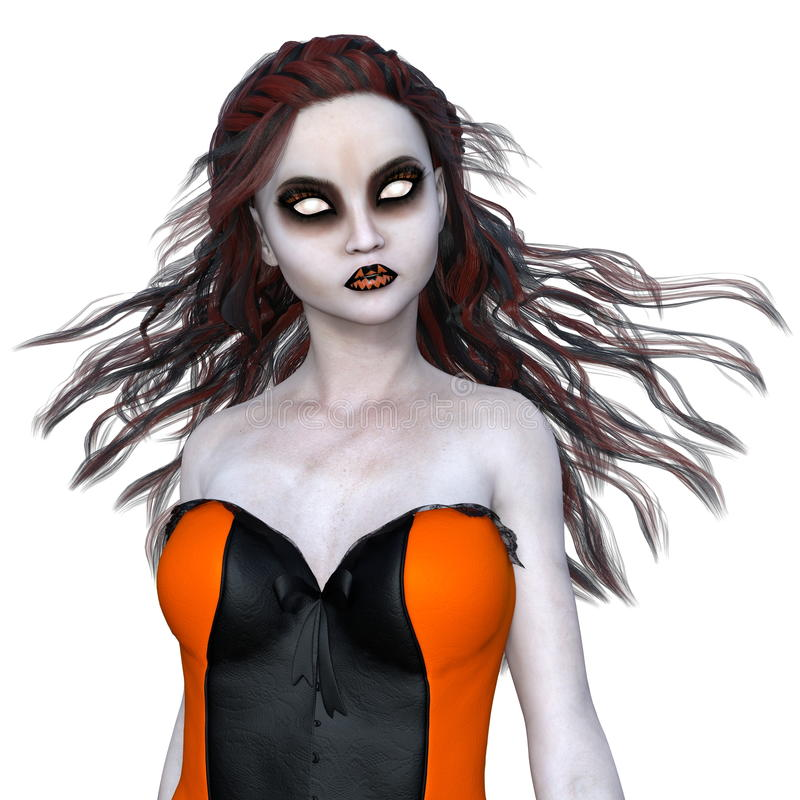 Horror make up woman. Image of a horror makeup woman . The woman is CG stock photography