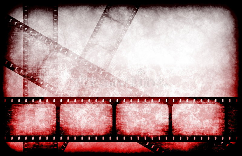 Horror Movie Feature Reel. Abstract Horror Movie Feature Reel as Background stock illustration