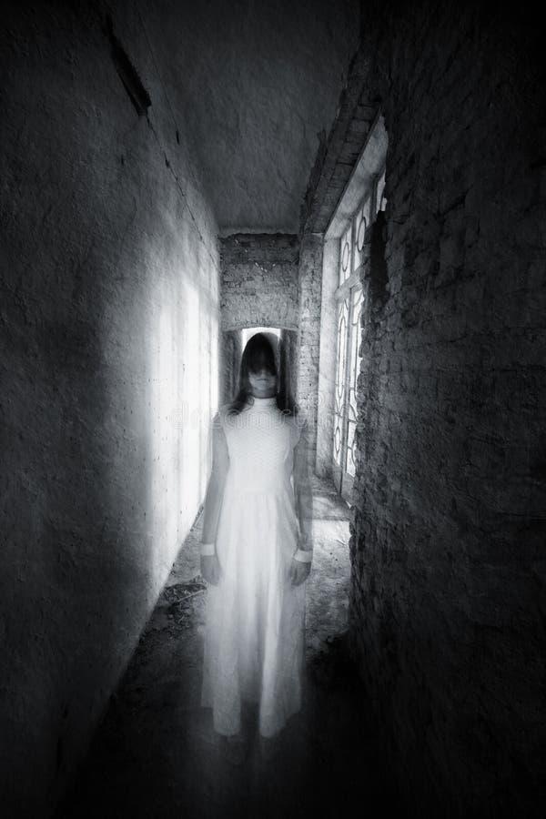 Horror movie scene stock image