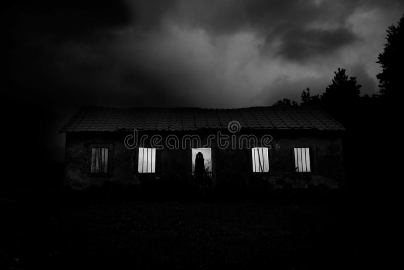Horror house royalty free stock image