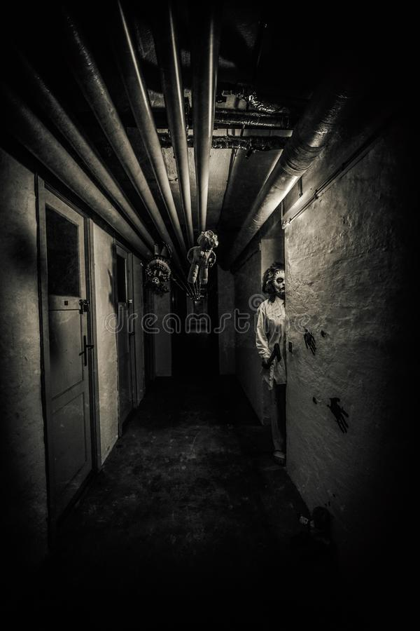 Horror movie scene royalty free stock image