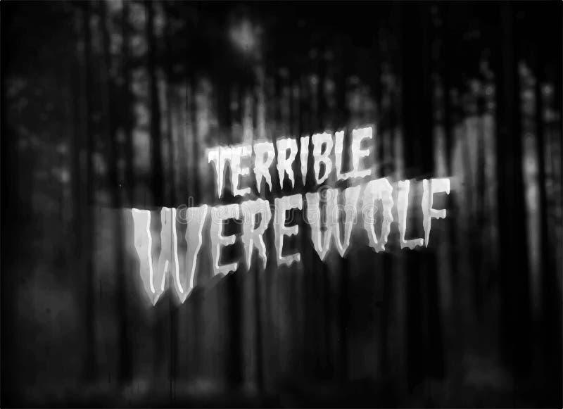 Horror movie tittle royalty free stock photo