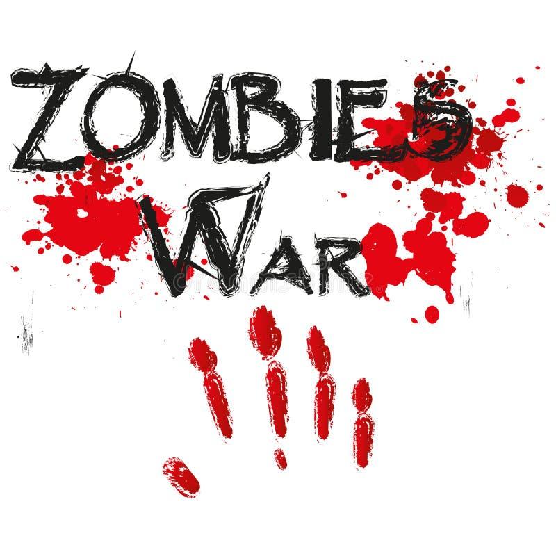 Horror para la guerra del zombi ilustración del vector