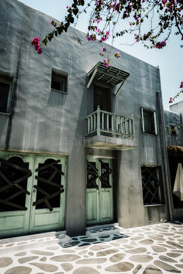 Horror scena stary grunge budynek fotografia stock