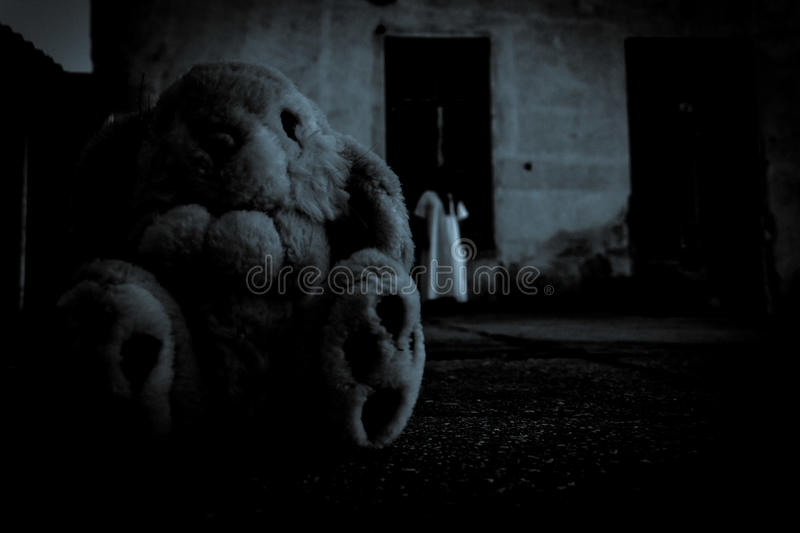Mysterious girl. Horror Scene of a Scary Woman royalty free stock photography