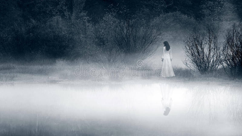 Download Horror Scene Of A Scary Woman Stock Photo - Image: 58389886