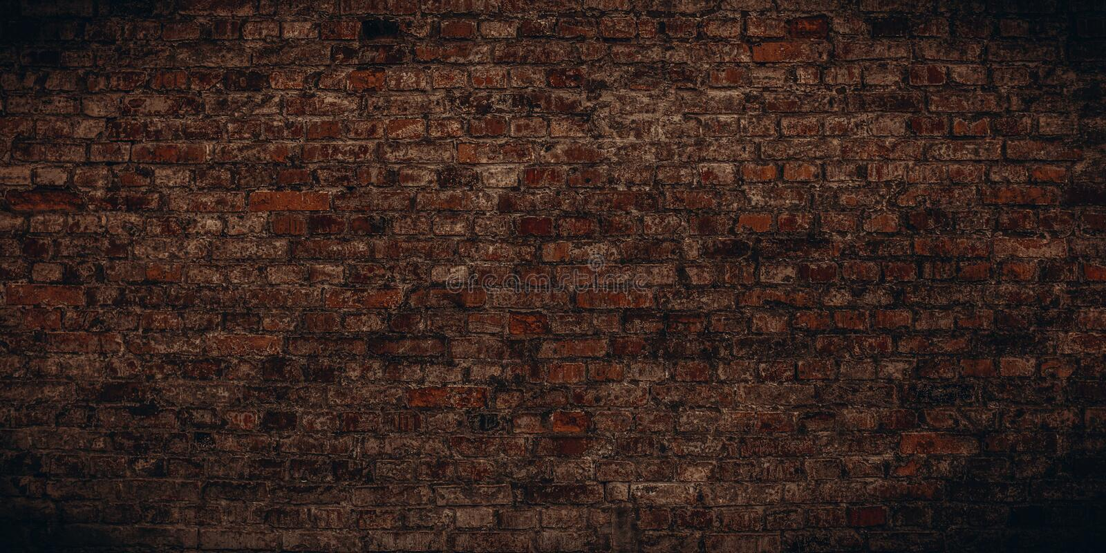 Horror-style dirty old brick wall. Abstract texture background for Halloween layouts royalty free stock photos