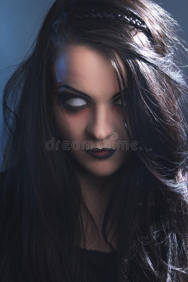 Horror undead girl stock image. Image of unsettling, girl ...