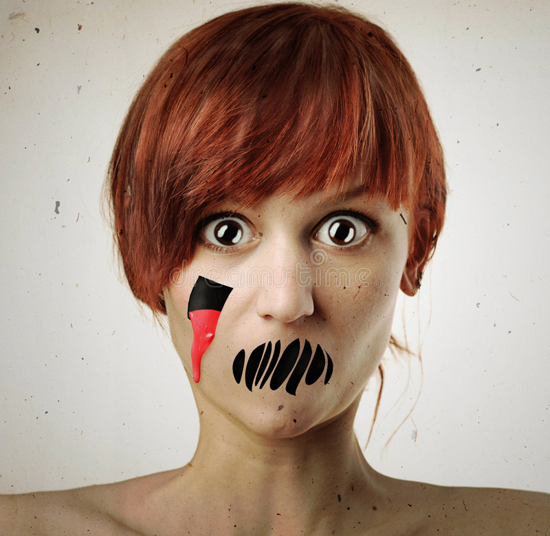 Download Horror woman stock photo. Image of shouting, hole, hell - 8321290