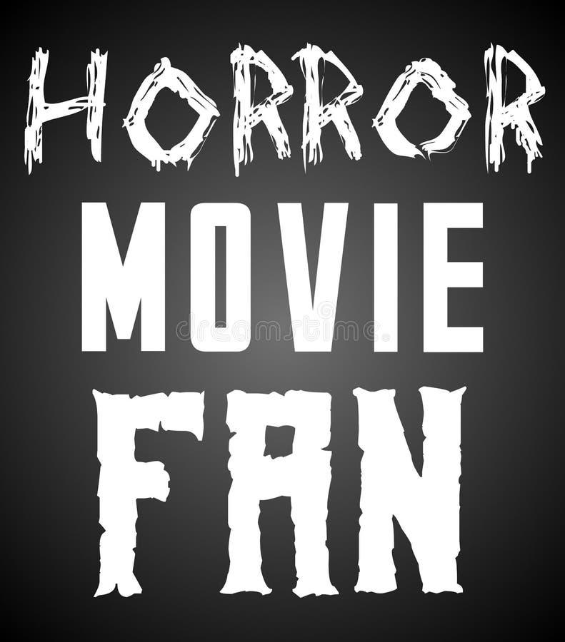 Horrorfilm-Fan-Plakat - Text-Raster-Entwurf vektor abbildung