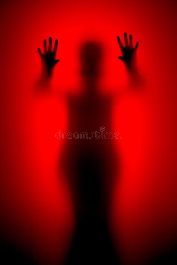 Horrorfilmszene lizenzfreie stockbilder