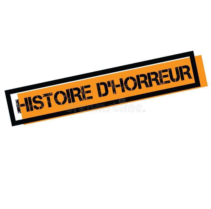 Horrorgeschichtenstempel auf französisch stock abbildung