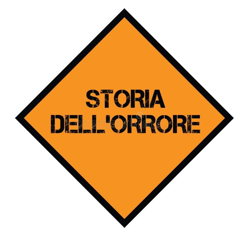 Horrorgeschichtenstempel auf italienisch stock abbildung