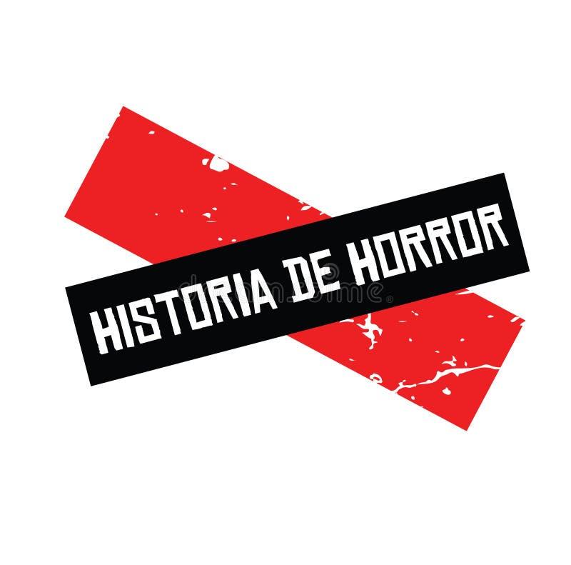 Horrorgeschichtenstempel auf spanisch vektor abbildung