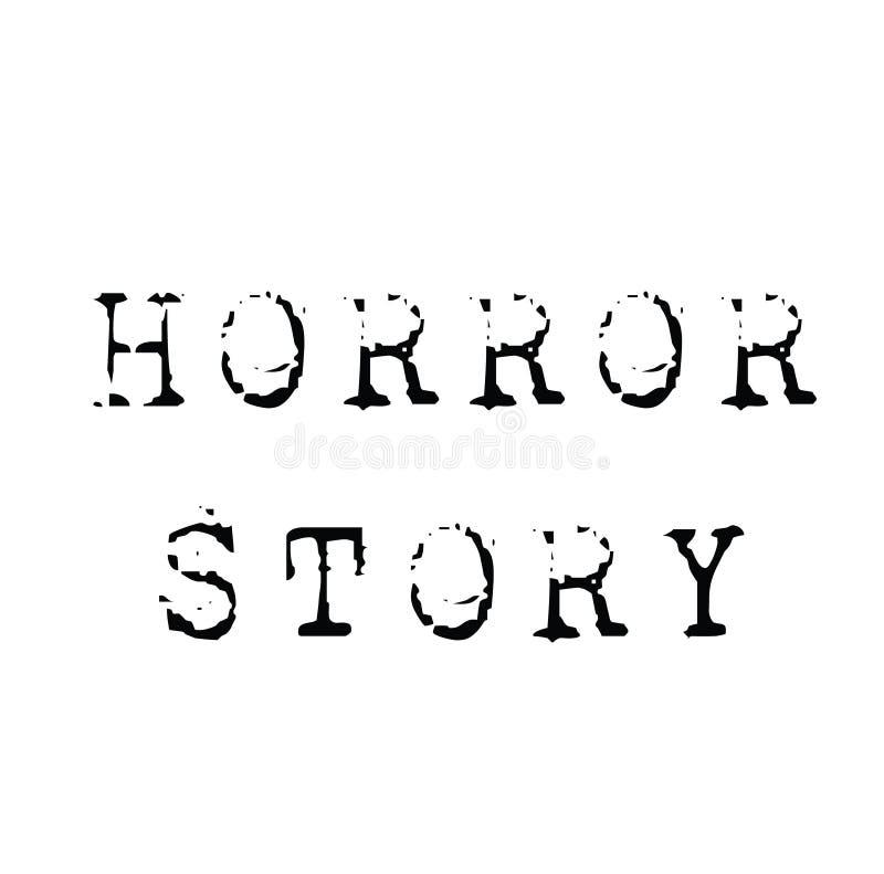 Horrorgeschichtenstempel auf Weiß vektor abbildung
