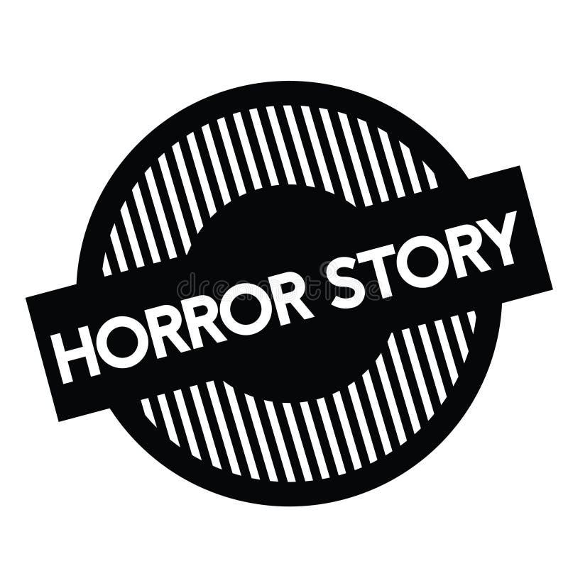 Horrorgeschichtenstempel auf Weiß lizenzfreie abbildung