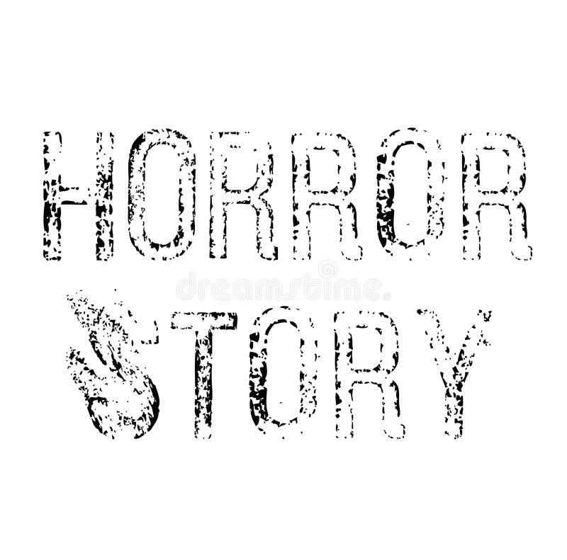 Horrorgeschichtenstempel auf Weiß stock abbildung
