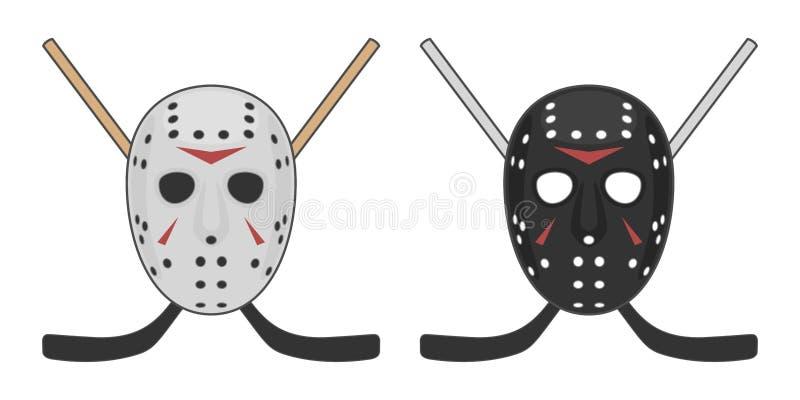 Horrorhockey Maske für Halloween lizenzfreie abbildung