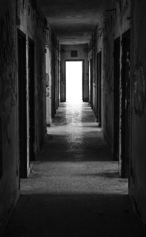 Horrorhotel lizenzfreies stockbild