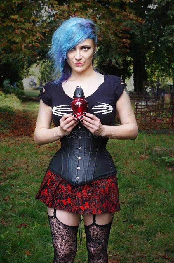 Horrorpunk-Mädchen stockbilder