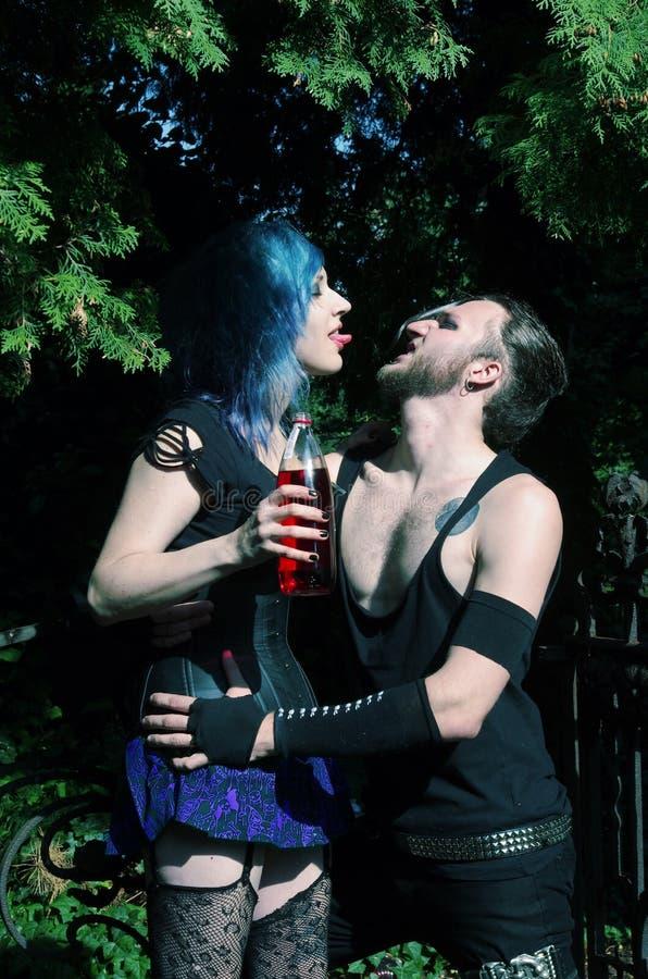 Horrorpunk-Paare stockfotografie