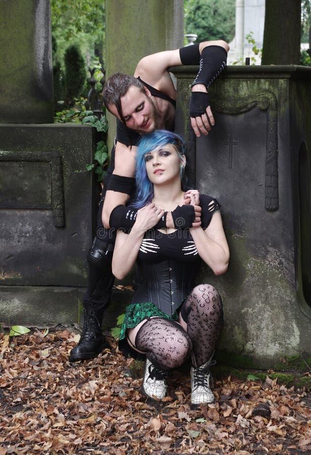 Horrorpunk-Paare stockbild