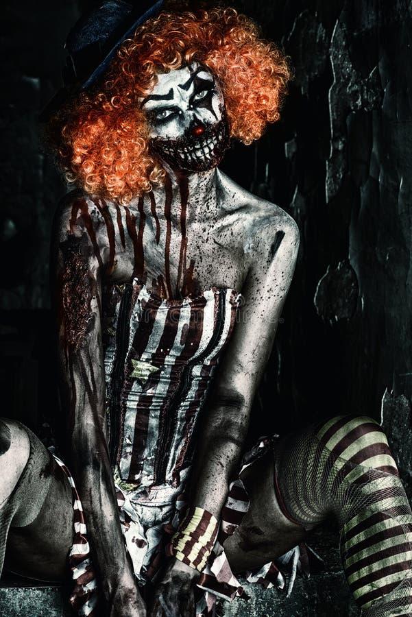 Horroru cown fotografia stock