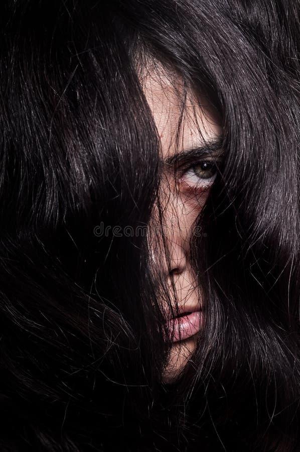 Horroru oko i twarz obraz royalty free